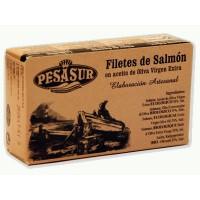 Filetes de Salmón en Aceite de Oliva 120 Gr (Pesasur)