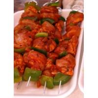 Brocheta Roja de Pollo con Pimiento , Pack 0,4 Kg