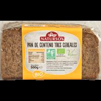 Pan de Centeno 3 Cereales 500 Gr (Natursoy)