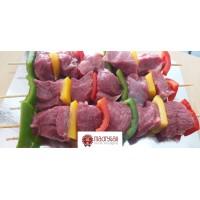 Brocheta de Cordero con Pimientos, Pack 0,4 Kg