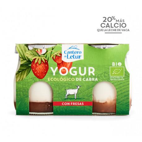 Yogur de Cabra con Fresas 2 x 125 Gr (El Cantero de Letur)