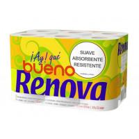 Papel Higiénico 100% Reciclado 12 Rollos (Renova-Green)