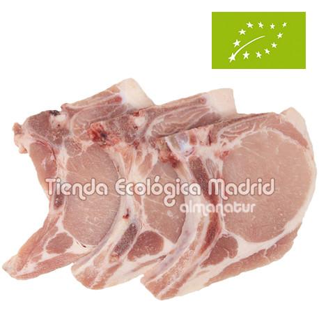 Chuletas de Lomo de Cerdo Ecológicas, Pack 0,5 Kg