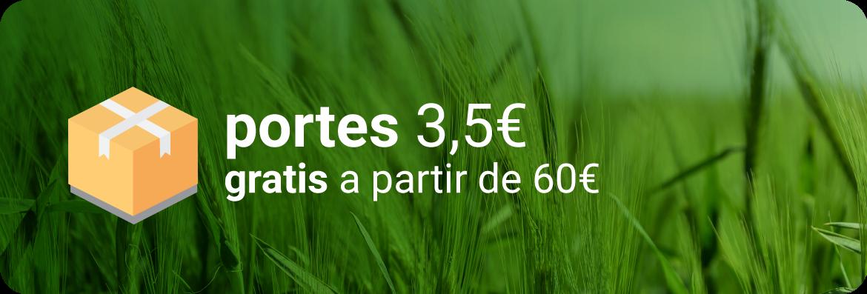 Portes gratis a partir de 20 euros